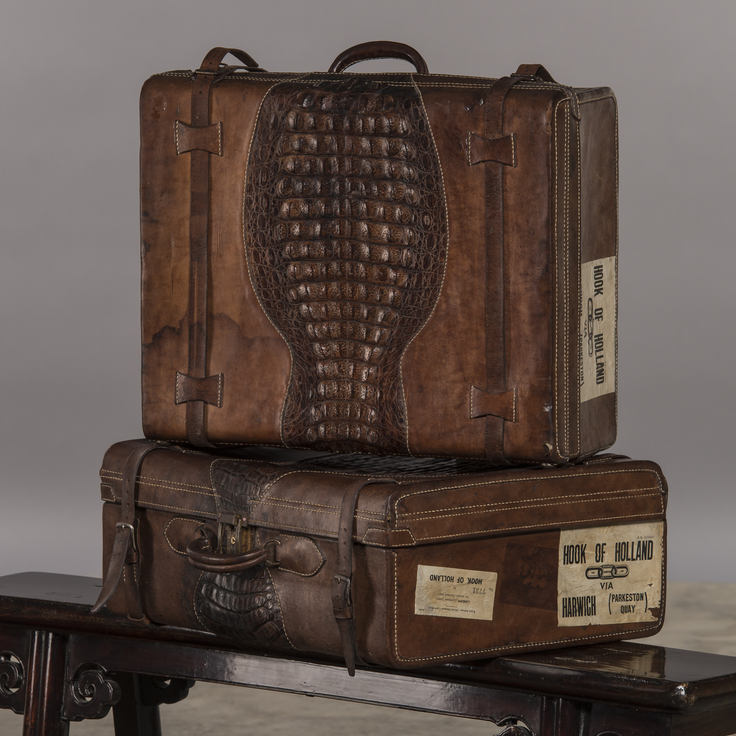 Suitcase with beautiful patina