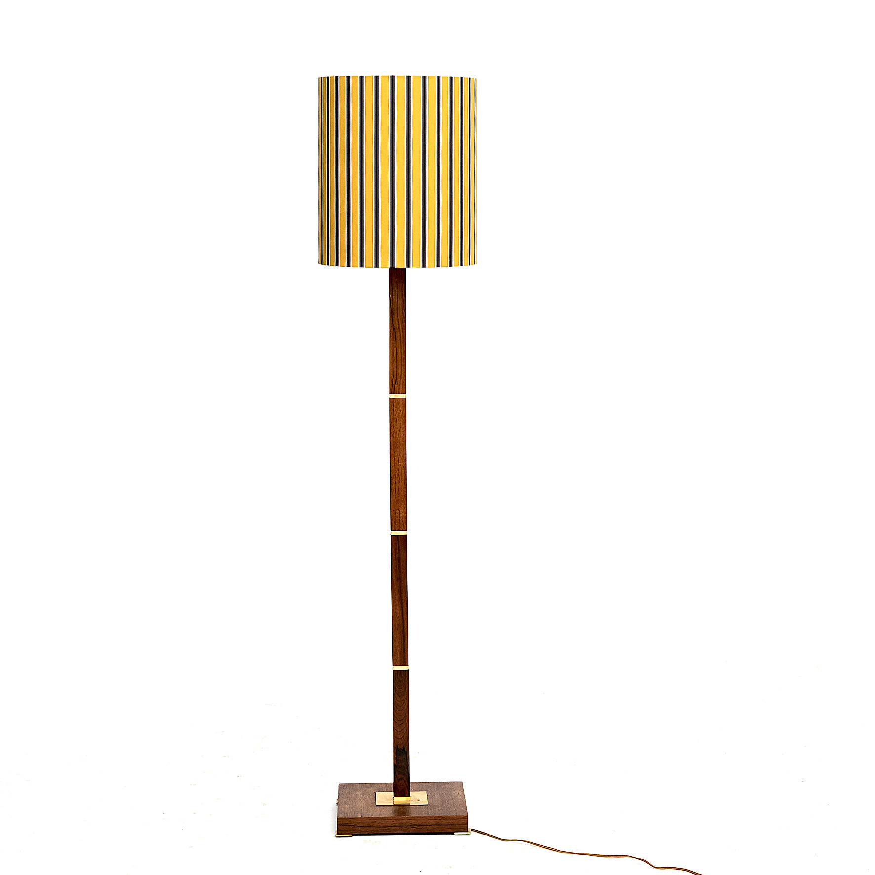 A Danish Mid-Century Fog & Mørup Rosewood and Brass Floor Lamp