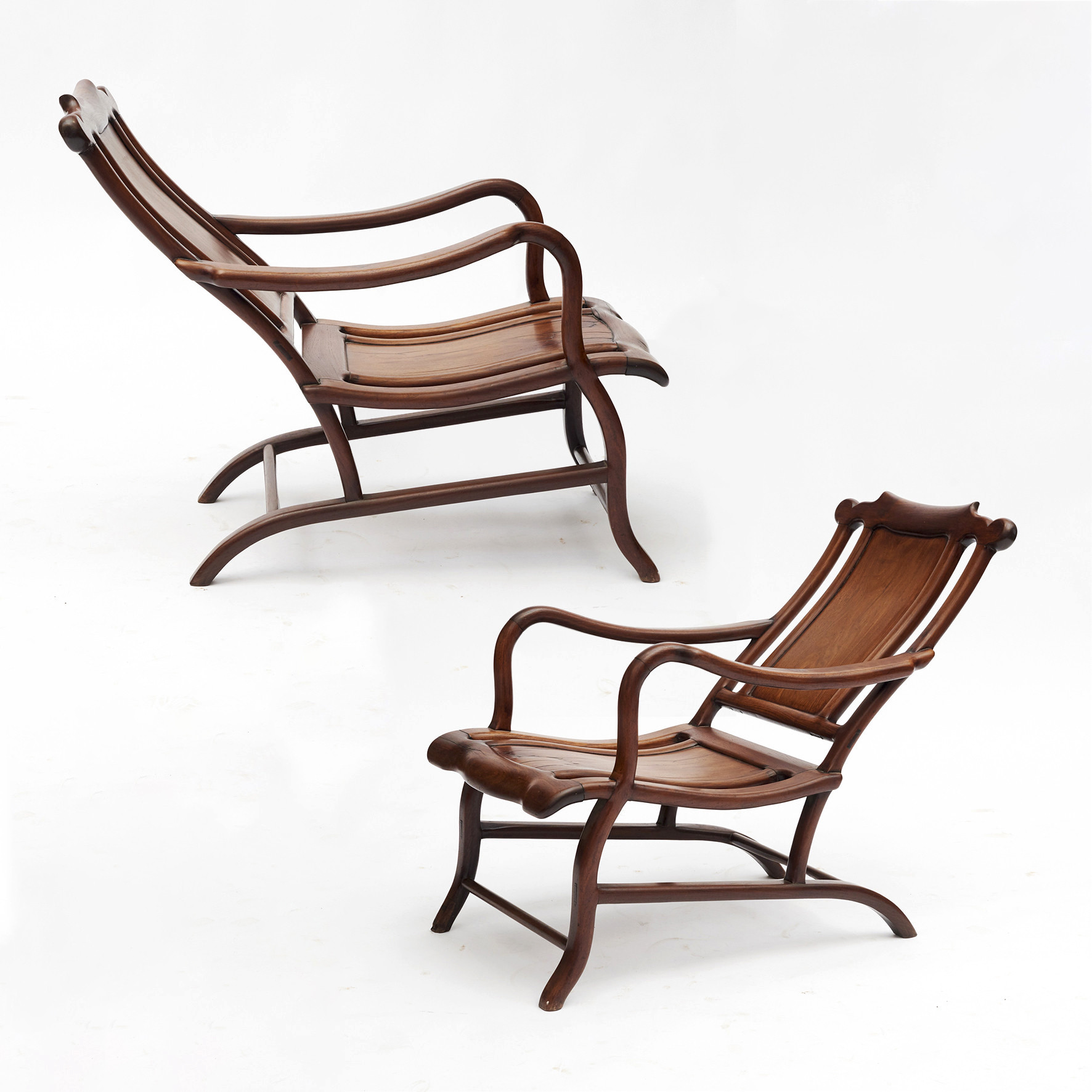 Pair of Chinese Art Deco Reclining Chair