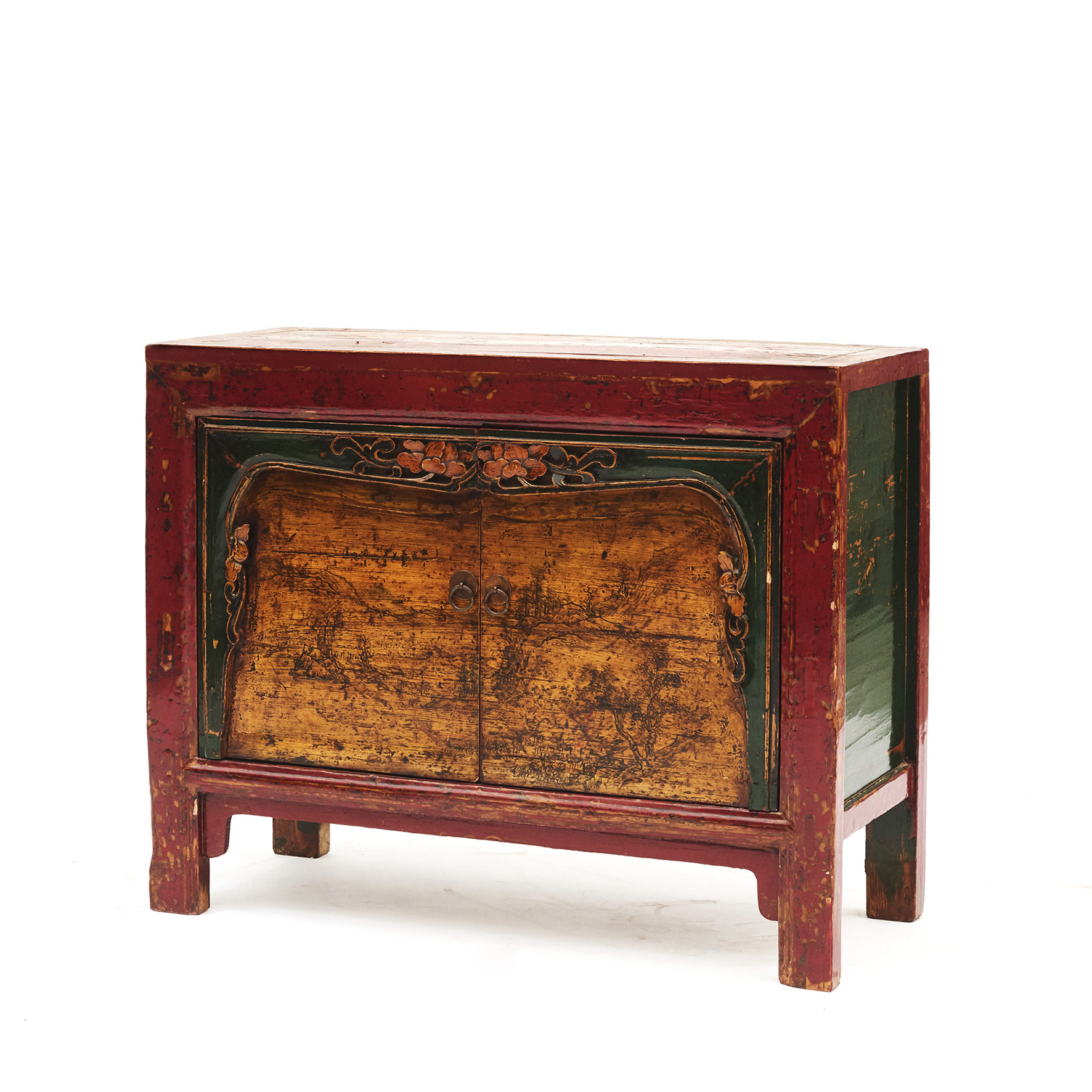 Original decorated sideboard from Gansu province