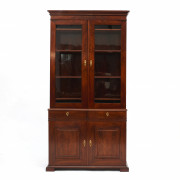 Danish Late Empire Mahogany Bookcase Cabinet