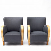 Pair of Swedish Art Deco Easy Chairs