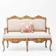 French Rococo Sofa Bench, 1760-1770