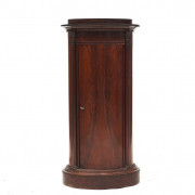 Danish late empire oval pedestal cabinet