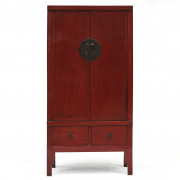 Mid-19th Century Chinese Qing Red Lacquer Cabinet