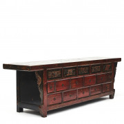 19th Century Chinese Altar Elmwood Sideboard