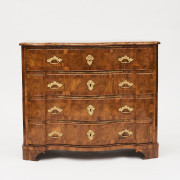 18th Century Walnut Burl Veneer Chest of Drawers