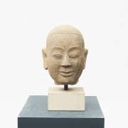 Burmese Buddha head in sandstone