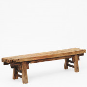 Rustic 17th-18th Century Chinese Pine Bench