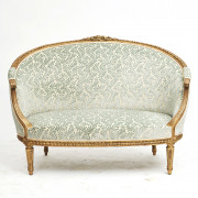 French Canapé Sofa in Louis XVI Style, c. 1860.