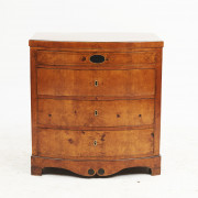 Danish Empire Bow-front Chest of Drawers