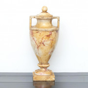Italian Grand Tour Carved Alabaster Urn Vase