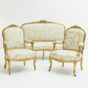 French furniture set, rococo style approx. 1860