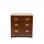 Smaller British Military Campaign Mahogany Chest of Drawers
