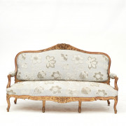 French rococo style sofa bench, c. 1850
