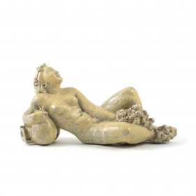 Jens Jacob Bregnø. Nude Woman Stoneware Sculpture