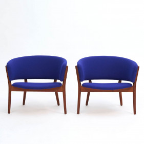 Pair of Nanna Ditzel Armchairs, ND # 83