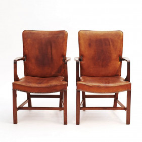 "Pair of Kaare Klint ""Nørrevold"" Armchairs for Rud Rasmussen"