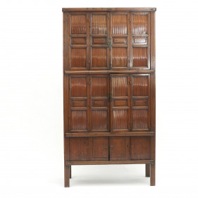 Chinese Qing Dynasty Kitchen Cabinet, 1840-1860