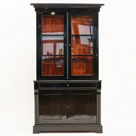 Elegant Danish Late Empire Glass Cabinet