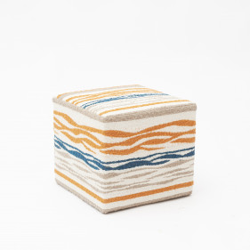 Pouf with beautiful fabric from Larsen