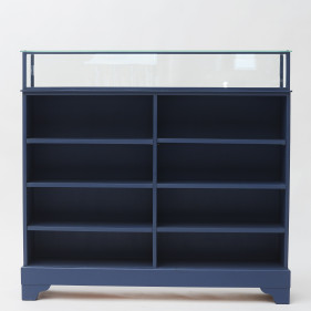 20th Century Danish Bookcase with Glass Showcase on Top