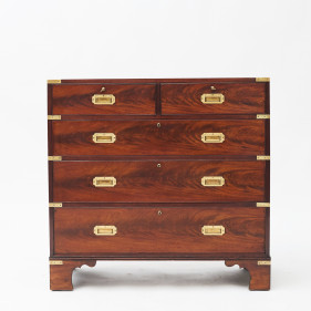 British Military Campaign Mahogany Chest of Drawers