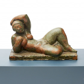 Clay Sculpture – Nude Woman Lying Down
