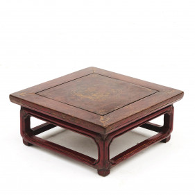 Chinese Red Lacquer Kang Table. Manchuria ,1850-1870