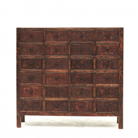 19th century Chinese apothecary medicine chest with 24 drawers