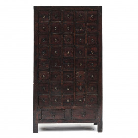 Chinese Mid-19th Century Apothecary Chest with 42 Drawers