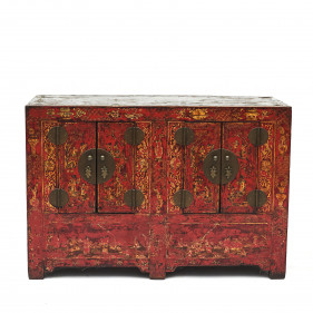Early 19th Century Qing Dynasty Sideboard with Original Lacquer