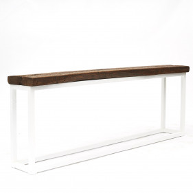 Console table with 18th century elm wood top on new base