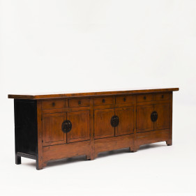 Large 'Cayenne' Colored Lacquer Sideboard