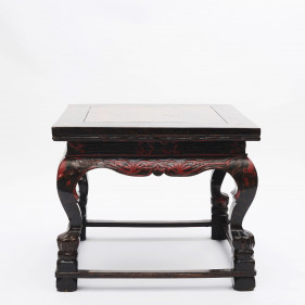 Qing Dynasty Center Table with Original Lacquer, Shanxi circa 1820-1840