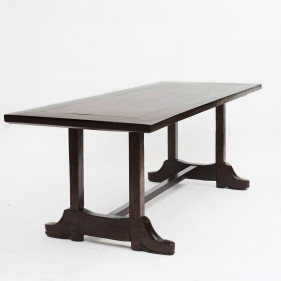 "19th Century Philippine Baroque style ""Shoe Table"" in Narra hardwood"