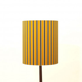 lamp Shade, striped silk