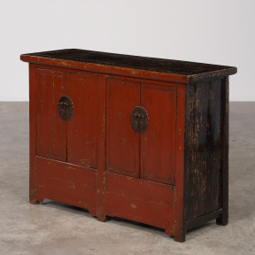 Red lacquer sideboard