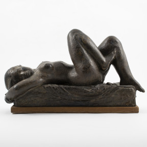 Anker Hoffmann, Bronze Sculpture Woman Lying Down
