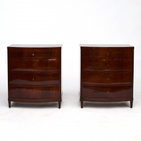 Pair of Danish 19th Century Empire Chest of Drawers