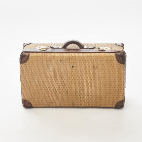Woven Bamboo Travel Suitcase