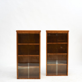 Pair of Art Deco Hanging Wall Cabinets