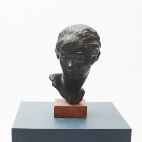 Anker Hoffmann, Bronze Bust of Young Woman