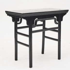 Black lacquer alter console table