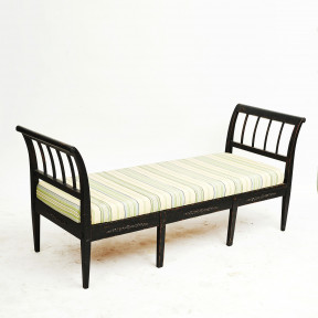 Danish 19th Century Empire Bench / Daybed