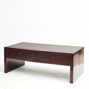 Chinese Art Deco Oxblood Lacquer Coffee Table