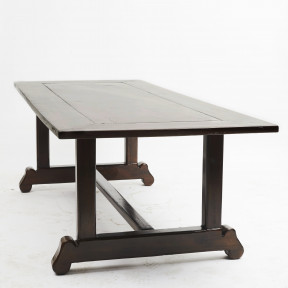 19th Century Spanish-Colonial Long Dinning Table in Narra Hardwood