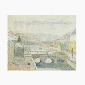 Agnete Varming Painting - The Marble Bridge, Copenhagen