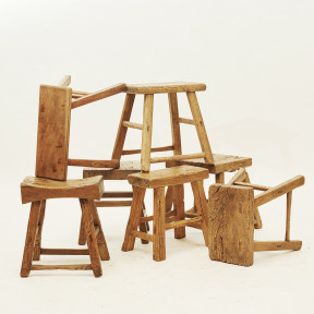 Stools in elm wood