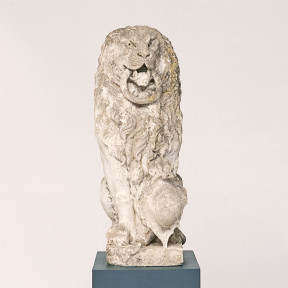Baroque Limestone Lion from Solgården, circa 1700s